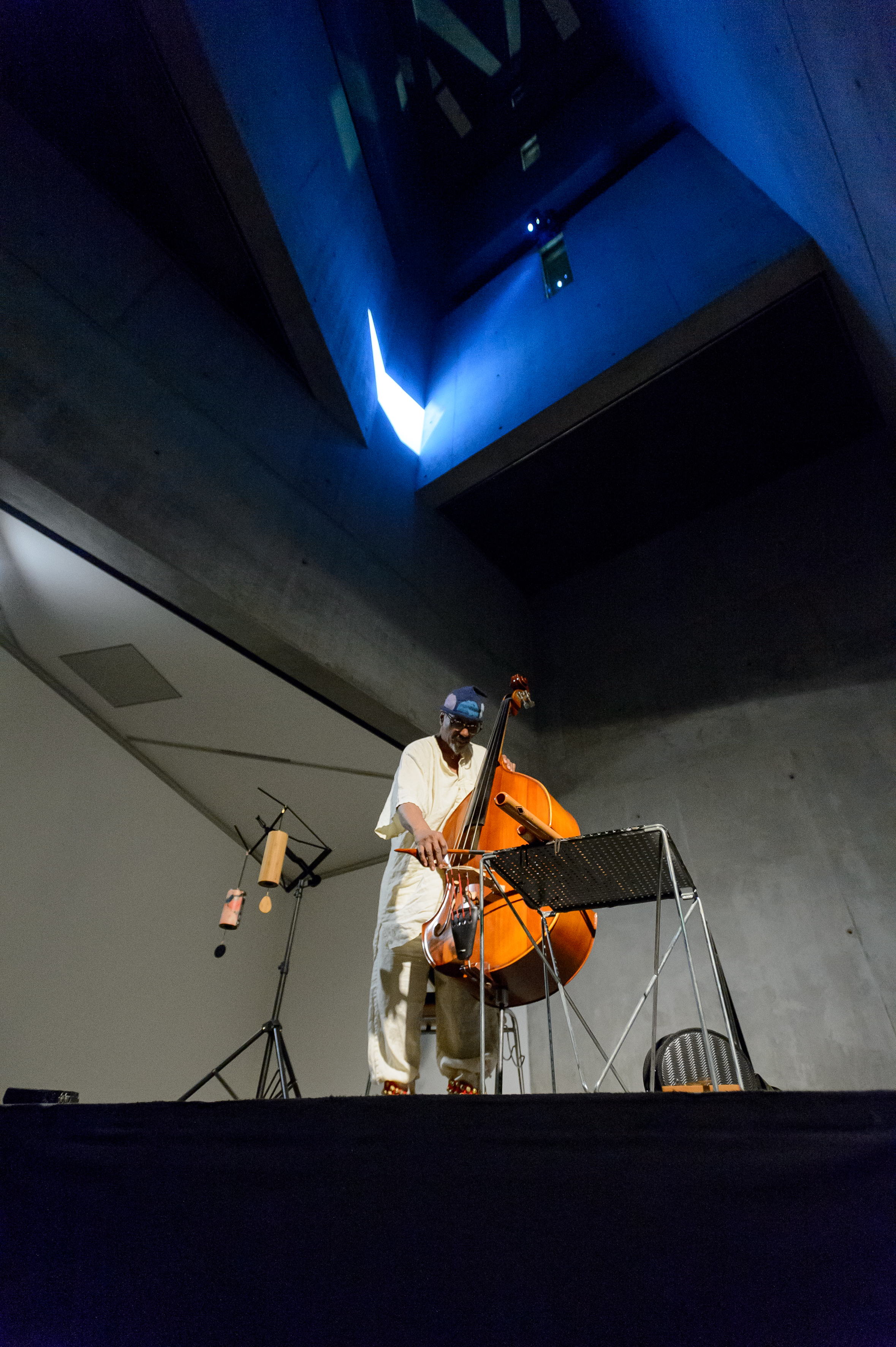 Concert William Parker, 23.03.2018, IN: res·o·nant, 2017, Installation Jüdisches Museum Berlin / © Archive Mischa Kuball, Düsseldorf / VG Bild-Kunst, Bonn 2018